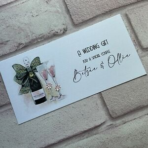 Personalised Handmade Money/Voucher/Gift Card Wallet WEDDING DAY Anniversary PC