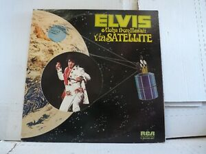 """ELVIS """"ALOHA FROM HAWAII VIA SATELLITE"""" QUAD TWO-LPs FROM 1973 1ST PRESS     R"""