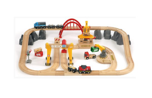 BRIO 33097 Cargo Railway Deluxe Set   | 54 Piece Train Toy with Accessories and