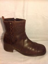 Wrangler Brown Ankle Leather Boots Size 39