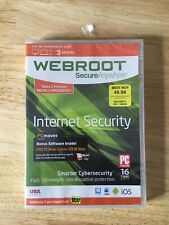 WEBROOT- Secure Anywhere Internet Security