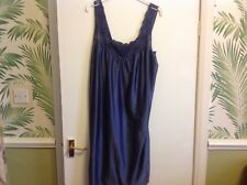 Ladies satin/silky effect nightdress chemise BLUE AND LACE size 10  BNWTT