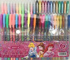 48pc Colours Gel Pens Art Craft Classic Neon Glitter Metallic Swirl Gel Ink Pen