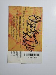 Chuck liddell autographed UFC 55 ticket