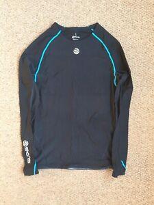 Men's SKINS Compression Long Sleeve Top | Size Large | Black