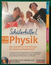 Physik - Lernsoftware/Multimedia CD-Rom für die Klassen 7-13 / Schülerhilfe !