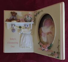Baptism Christening Picture Frame-Girl. Beautifully detailed.