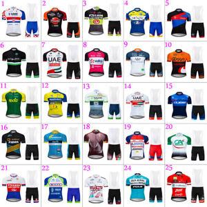2021 Mens Team Cycling Jersey Bib Shorts Kits Bicycle Jerseys Short Sleeve Bibs