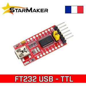 FT232 FTDI Mini USB to TTL Serial UART adaptateur module Arduino 3.3V 5V