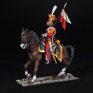 Tin Soldier, Private Red Lancer, France 1812, Napoleonic 54 mm