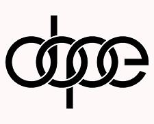 "Audi ""Dope"" White Vinyl Car Decal"