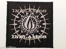 ROCK PUNK METAL MUSIC SEW / IRON ON PATCH:- IN FLAMES ANDERS FRIDEN SWEDEN