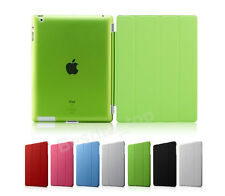 Leather Flip Smart Cover + Back Case For Apple iPad 2 3 4 + Accessories AU FREE