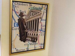 Subway Stops: Wall Street, Karl Soderlund, Signed,Greenwich Wksp Ltd Ed. 2000