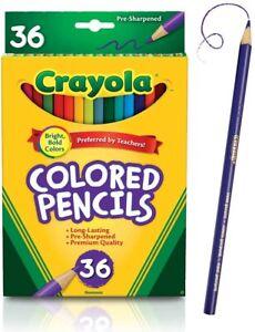 NEW 36 Nontoxic Crayola Colored Pencils #68-4036