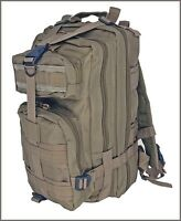EXCELLENT QUALITY MEDIUM ASSAULT TACTICAL BACKPACK TAN COLOR 600 DENIER FABRIC