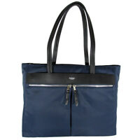 "Knomo London Womens Mayfair Collection Grosvenor Square 15"" Tote Bag, Navy"