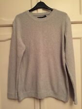 Topman Cotton/Acrylic Light grey Round Neck Pullover. Small. Fit 36-38 Chest