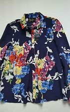 Anthropologie Yumi Kim women  XS silk shirt long sleeve casual career work  New