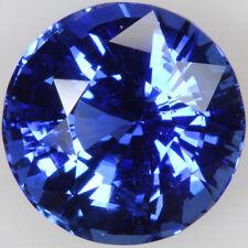Ein Paar 10 mm rund facettiert königsblau Cubic Zirkonia Edelsteine