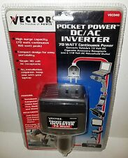 Vector pocket power DC/AC inverter 70 watt continuous power Car Adapter (VEC040)