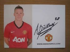 2012-13 Alex Buttner Signed Man Utd Club Card (3021)
