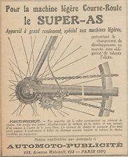 Z9793 Appareil le SUPER-AS -  Pubblicità d'epoca - 1923 Old advertising
