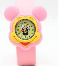 Quality Mickey Mouse Girls Boys Kids Wrist Watch Mickey Pink Slap Strap FC QTY