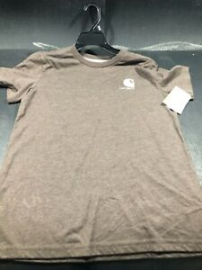 CARHARTT BOYS SIZE M-10/12 STYLE CA6159 COLOR MUSTANG BROWN HEATHER