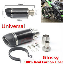 51mm Moto Glossy Carbon Fiber Color Exhaust Pipe Fit For Most Motorcycle ATV