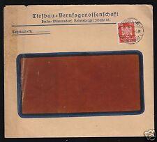 Bedarfsbrief, Michel DR 357X, EF, o Berlin-Wilmersdorf, 7.6.26