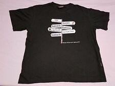 """Vintage GUINNESS """"Road Signs of Ireland"""" T-Shirt Size Large"""