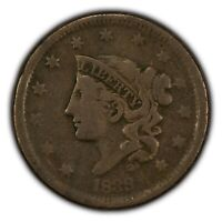 1838 1c Coronet Head Large Cent SKU-Y2623
