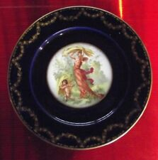 Ancienne assiette Limoge décoration Nu de style art Nouveau la Moisson Ange