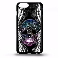 Skull wings tattoo cool gothic pattern colourful music art phone case cover