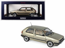 Norev 1:18 1988 Volkswagen Golf CL Beige Metallic Diecast Car 188519