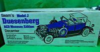 VINTAGE IN BOX Duesenberg Model J Car Jim Beam Porcelain Whiskey Decanter