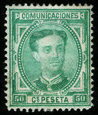 ESPAÑA 1876. Alfonso XII. 50 céntimos verde. Nuevo*. Edifil 179.