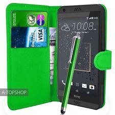 Verde Funda Tipo Cartera Cuero Artificial Funda tipo libro para HTC Desire 530