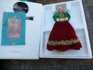 "Vintage 1995 Barbie ""Holiday Jewel  Porcelain Barbie Doll OB"