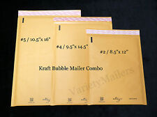 9 KRAFT BUBBLE LARGE PADDED MAILING ENVELOPE COMBO  (2) #5 + (2) #4 + (5) #2