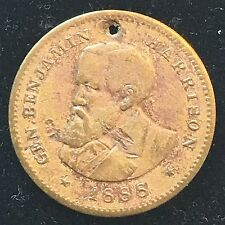 1888 General Benjamin Harrison Canident For President Political Token Medal Coin