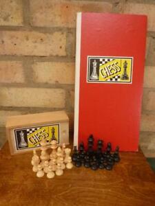 "A nice Vintage John Jaques vintage Chess set 2 1/2"" king VGC"