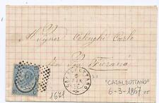 """""""CASALBUTTANO"""" DOPPIO CERCHIO + PUNTI SU FERRO DI CAVALLO - 1867 - RARO"""