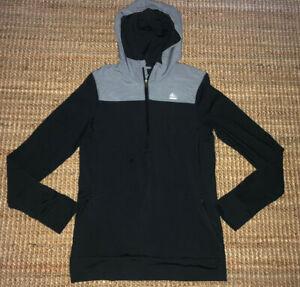 Adidas Hoodie Pullover Medium Women's Climalite Athletic Black & Gray Techfit