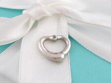 Tiffany & Co Peretti Silver Open Heart Aquamarine Pendant 4 Necklace/Bracelet