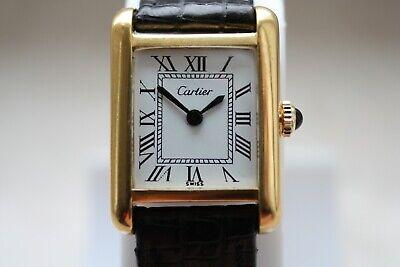 Cartier Tank Paris Damen 18k Elektronisches Gold Wristwatch Armbanduhr Swiss