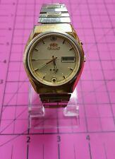 "Orient ""Crystal"" Kalender Tag & Datum 21 Jewels Edelstahl Japan Movt"