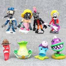 8 Funny Plants vs. Zombies Action Figures Snow Pea Chomper Toy Cake Topper Decor