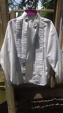 Ladies Women's white english horse show shirt, long sleeve  size 10 Lady L & M